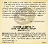 Chardonnay Reserve label back