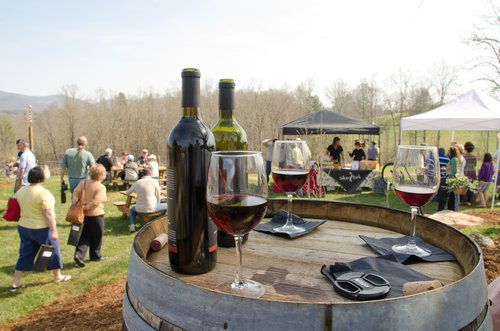 Silver Fork wine and guests